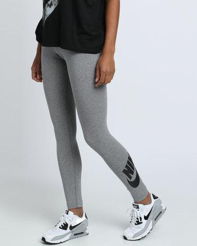526041e2ccef90 Nike Womens Nike Swoosh Leg A See Legging Logo Grey | Zando
