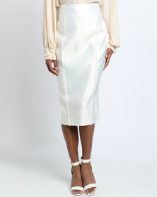 Rubicon Pencil Skirt White