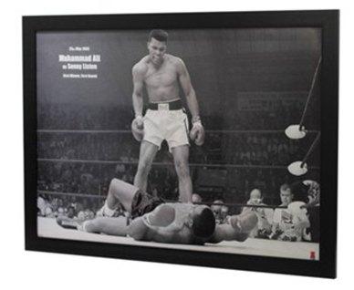 muhammad ali liston landscape framed poster - Muhammad Ali Framed Pictures