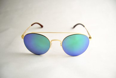 Lentes & Marcos Principe de Vergara UV400 Blue Round Sunglasses