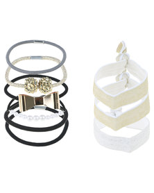 Jewels&Lace Ladies Bow And Hair Tie Pack Multi