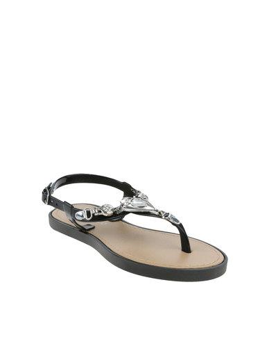 09c012cef Rock   Co Emma Girls Flat Jelly Sandals Black