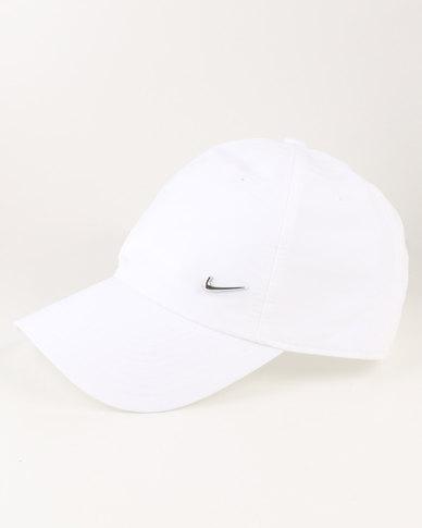 6acdb968df2 Nike Sportswear H86 Metal Swoosh Cap White