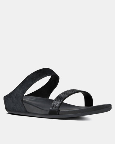 799bb7b72 FitFlop Banda Micro Crystal Slide Black
