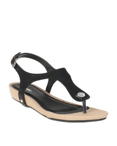 f27600093 Bata Ladies Slingback Sandals Black
