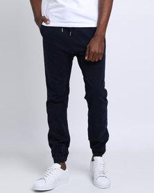 Sons Of Edwardian Cross Hatched Denim Jog Jeans Blue