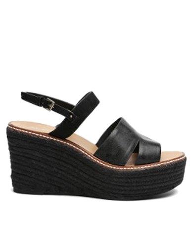 Ladies Aldo Platform 2 Piece Glitter Sandal With Wedgeamp; Ankle bf6gY7y