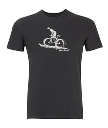 WWF Home Brewed Bicycle Rider Mens T-Shirt Charcoal