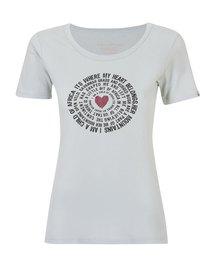 WWF Home Brewed Circle Words Ladies T-Shirt Mint Grey