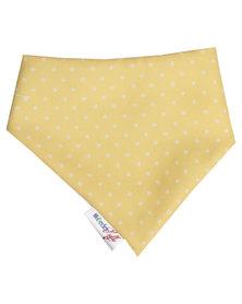 Moederliefde Polka Dots Bandana Bib Yellow