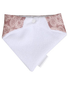 Moederliefde Lace Patterned Bandana Bib Multi