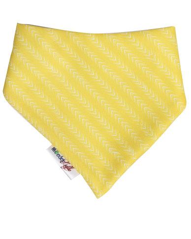Moederliefde Arrows Bandana Bib Yellow and White