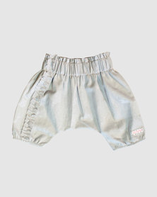 Eco-Punk Baby Linen Pants Foam White Grey