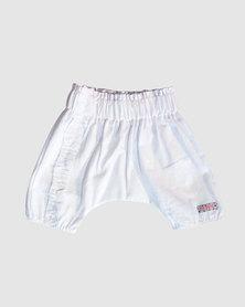 Eco-Punk Baby Linen Pants White
