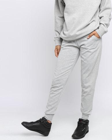 a28f7d4584 New Look Slim Leg Joggers Grey