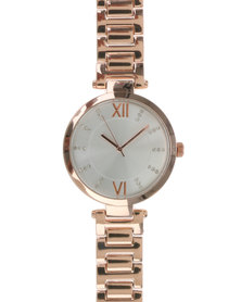 New Look Glitter TBar Sports Watch Nude