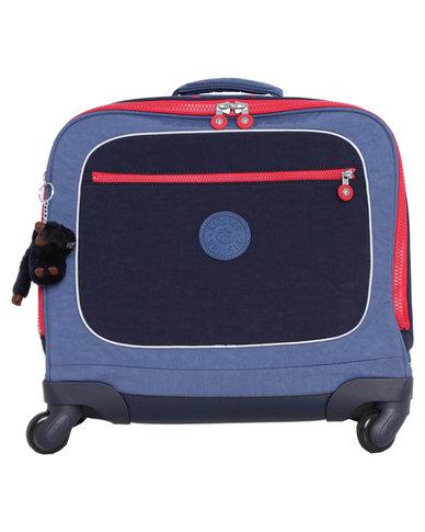 57d8f33873 Kipling Manary Backpack With Laptop Sleeve Bag Blue   Zando