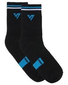 Versus Socks Double Stripe Blue