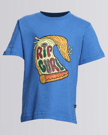 Rip Curl Pizza For Days Tee Blue