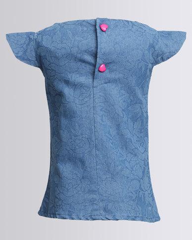 Cotyledons Denim Dress Blue