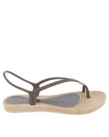 Q Surf Slingback Toe Thong Flat Sandal Multi