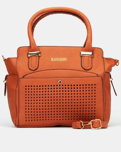 Blackcherry Bag Structured Tote Bag Brown