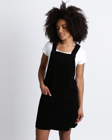 best finest fabrics outstanding features New Look Cord Pinafore Dress Black