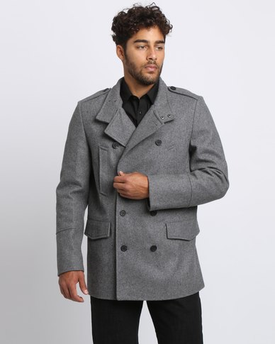 New Look Military Jacket Pale Grey
