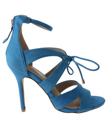 Zoom Exclusive Amber Ankle Strap High Heel Blue
