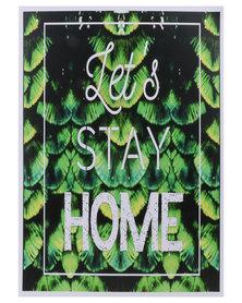 Mon Petit Chou Lets Stay Home Wall Art Green