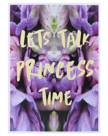Mon Petit Chou Lets Talk Princess Time Wall Art Purple