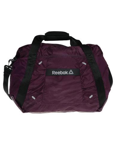 Reebok Performance OS Womens 30L Graphic Duffle Bag Purple  9aae88e3c3642