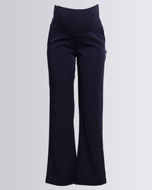 Cherry Melon Classic Leg Pants Navy
