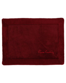 Pierre Cardin Memory Foam Bathmat Red