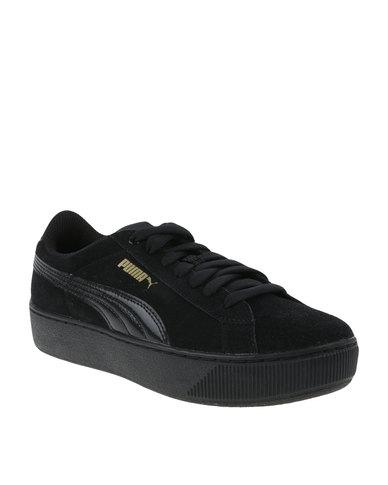 black puma vikky platform