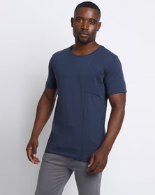 Ringspun Grapefruit T-Shirt Navy
