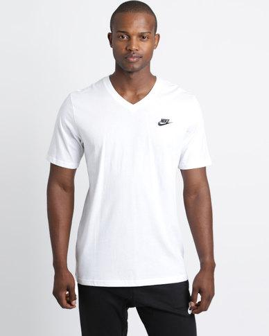 Nike M NSW Tee VNK Club EMBRD FTRA White  838506e721c