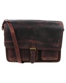 John Buck Warman Office Bag Dark Brown