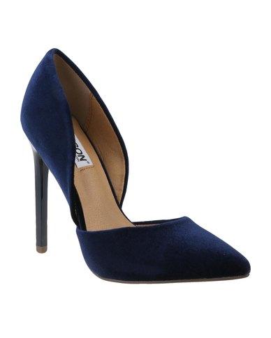 Madison Leah High Heel Velvet Blue