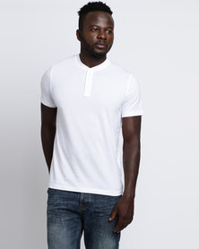Utopia Basic Henley Tee White