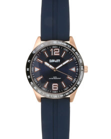 Soviet Gents Resin Analogue Watch Blue