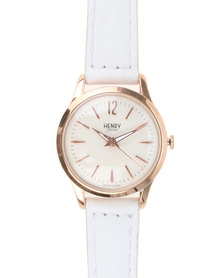 Henry London Ladies Pimlico Watch With Dial White