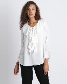 Utopia Georgette Ruffle Blouse Milk