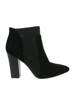 Utopia Contrast Neoprene Heel Boots Black