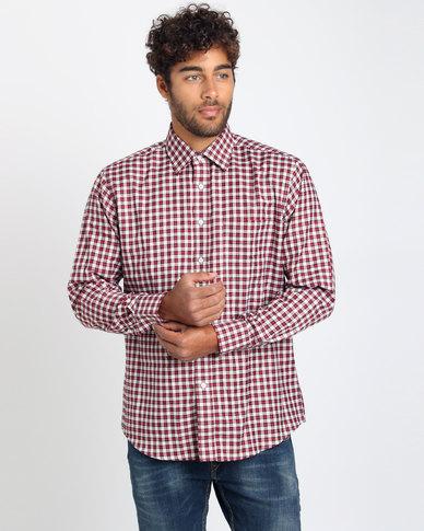 Utopia Check Long Sleeve Shirt Brown