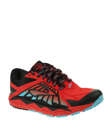 d51ab8192c6 Brooks Caldera Mens Trail Running Shoes Red