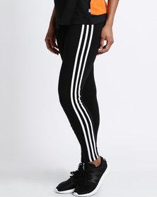 adidas Ladies 3 Stripe Legging Black