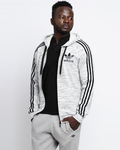 size 40 297ab 8a9df adidas Mens CLFN FT FZ Hoodie Grey  Zando