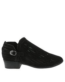 ZOOM ZOOM Stella Cut Out Heeled Boot Black order sale online NjBDBhlGO