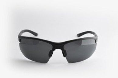 4fc449d44a Complete the look. Lentes   Marcos Ventas Polarised Black Sporty Wrap-Around  Sunglasses ...